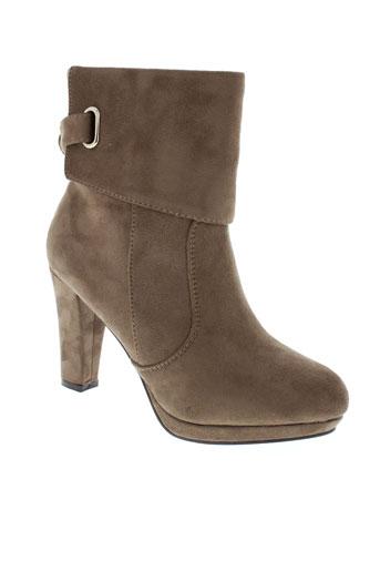 la bottine souriante chaussures femme de couleur marron