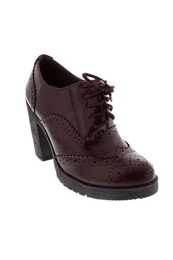 la bottine souriante chaussures femme de couleur rouge