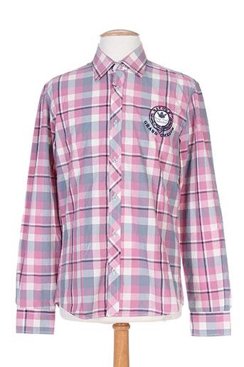cambe chemises homme de couleur rose