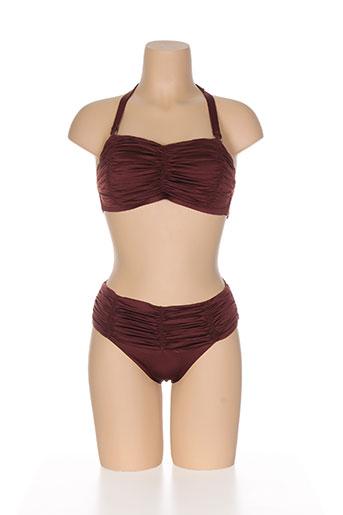 acqua et sale maillots de bain femme de couleur marron
