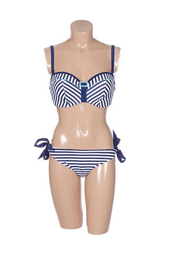 cleo by panache maillots de bain femme de couleur bleu