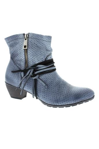 maciejka et obuwie bottines femme de couleur bleu