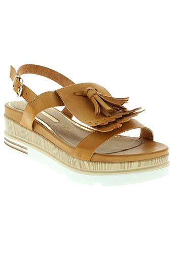 mariamare sandales et nu et pieds femme de couleur marron