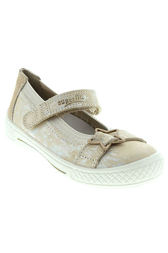 super et fit ballerines fille de couleur beige