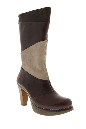 art bottines femme de couleur marron