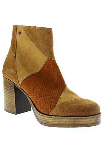 mtng boots femme de couleur marron