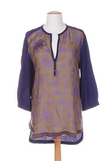 pianurastudio chemises femme de couleur violet