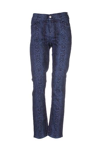 atelier gardeur pantalons femme de couleur bleu
