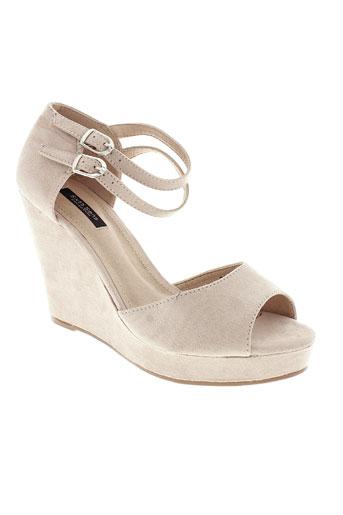 sixth et sens sandales et nu et pieds femme de couleur beige