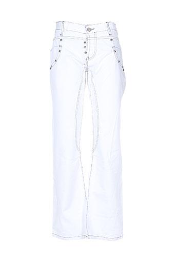 exxite jeans homme de couleur blanc