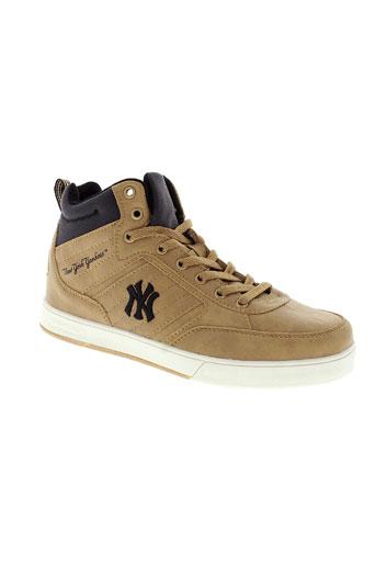 new et york et yankees baskets garcon de couleur marron