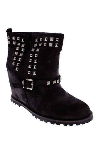 les secrets de vanessa chaussures femme de couleur noir