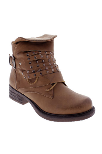 forever et folie bottines femme de couleur marron