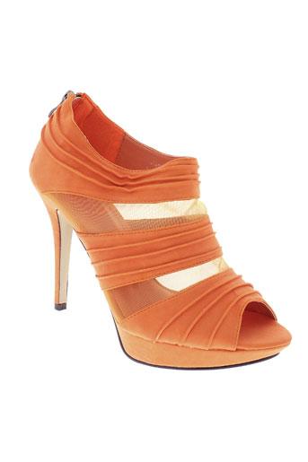 jennika chaussures femme de couleur orange