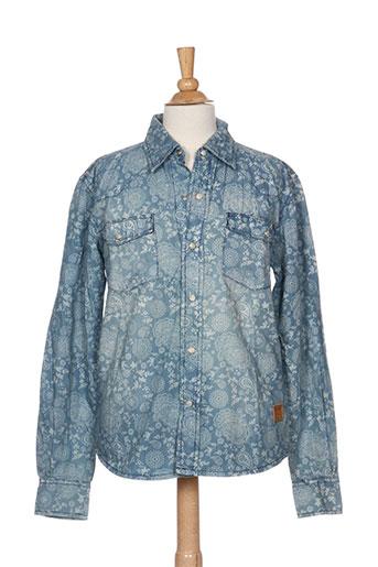 biaggio chemises garçon de couleur bleu