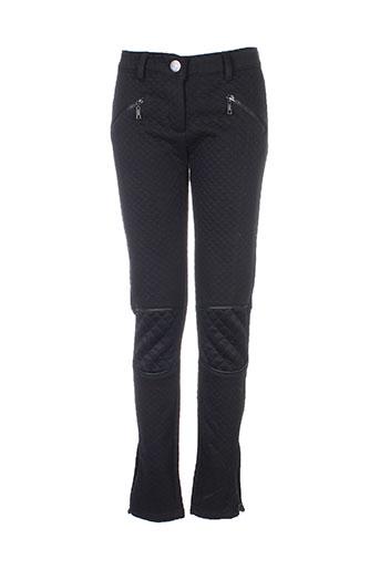 lexxury pantalons femme de couleur noir