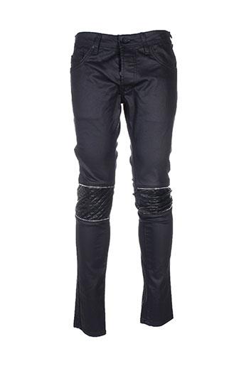 gov denim jeans homme de couleur noir