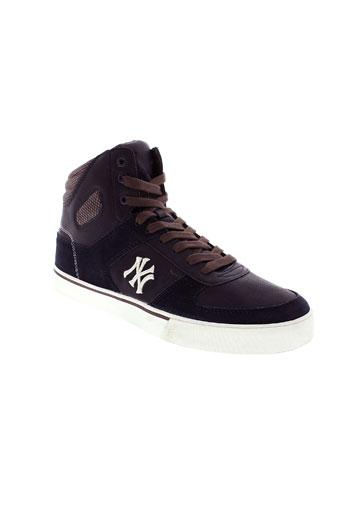 new york yankees chaussures homme de couleur bleu