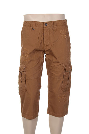 crossby pantacourts homme de couleur marron