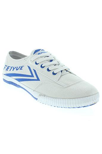 feiyue chaussures homme de couleur blanc