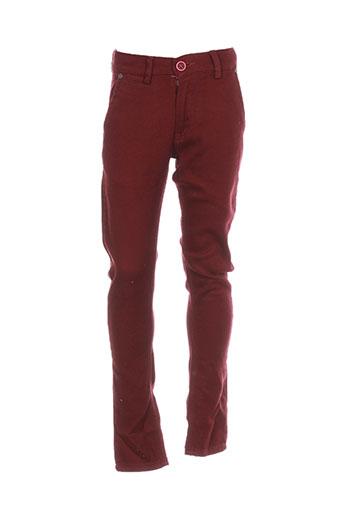 armita pantalons garçon de couleur rouge