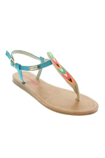 les tropeziennes chaussures femme de couleur bleu