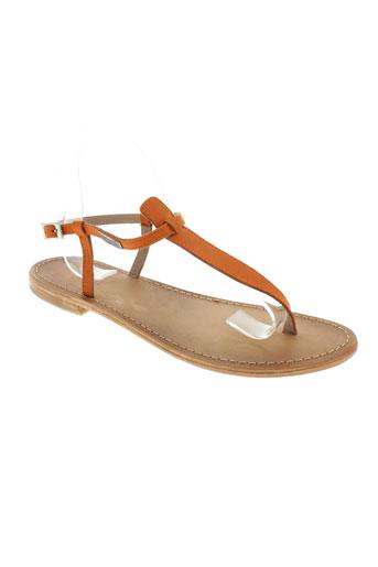les tropeziennes chaussures femme de couleur orange