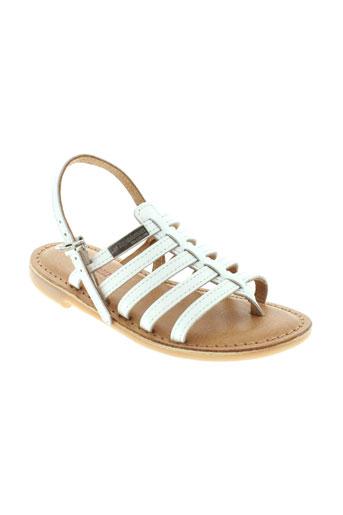 les tropeziennes chaussures fille de couleur blanc