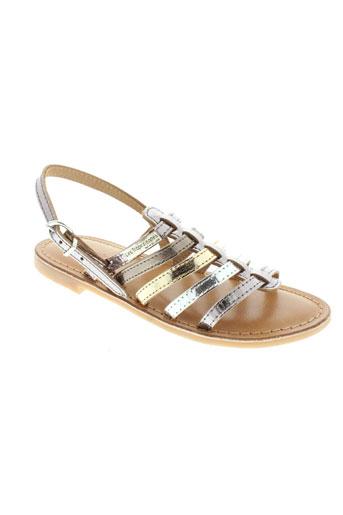 les et tropeziennes sandales et nu et pieds fille de couleur gris