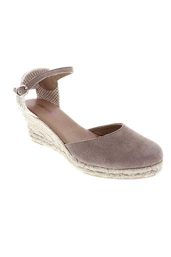pare et gabia sandales et nu et pieds femme de couleur beige