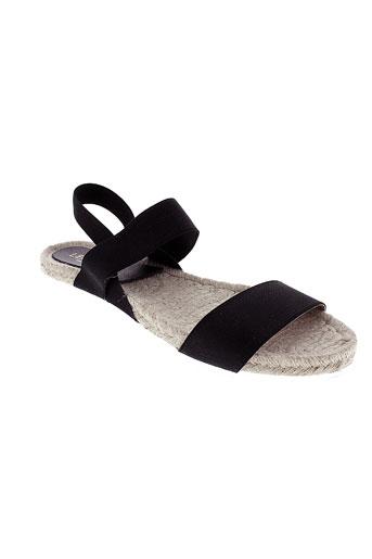 pretty things inside chaussures femme de couleur noir