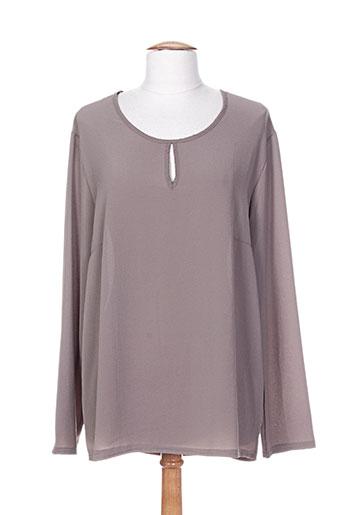 fafa mod t-shirts femme de couleur gris
