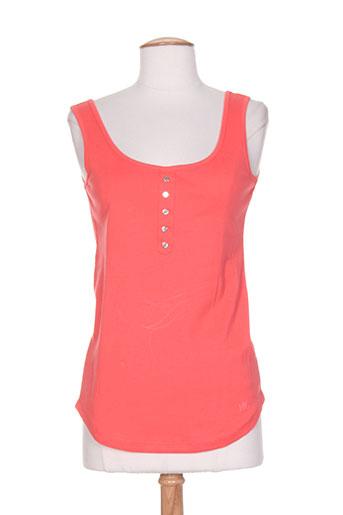 marble t-shirts femme de couleur rose