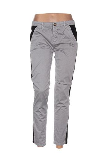 douyoudou pantalons femme de couleur gris