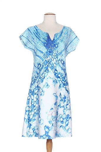 animapop robes et mi et longues femme de couleur bleu