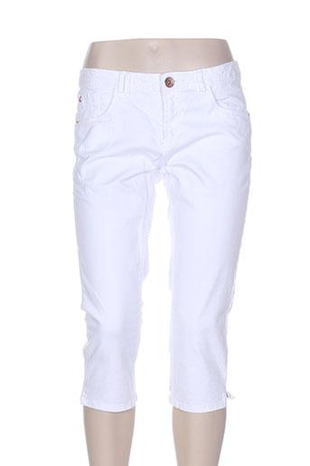 garcia corsaire femme de couleur blanc