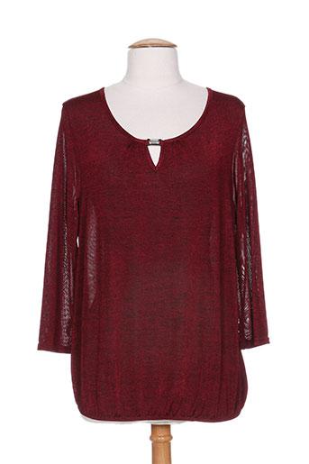 renatto bene t-shirts femme de couleur rouge