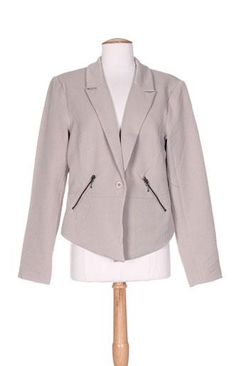 b.young vestes femme de couleur beige