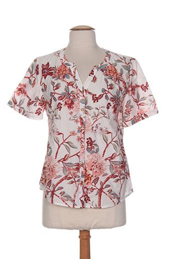 brandtex chemises femme de couleur rouge
