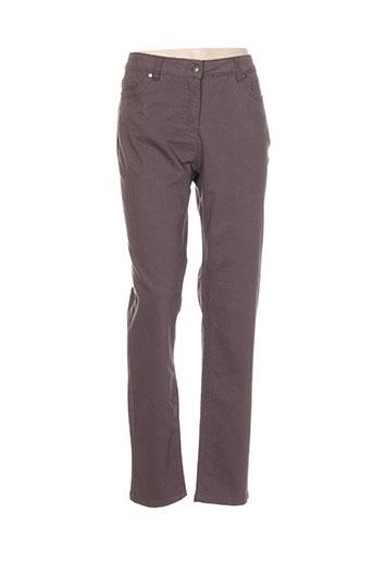brandtex pantalons et decontractes femme de couleur marron
