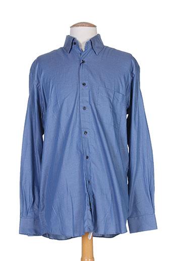 pierre clarence chemises homme de couleur bleu