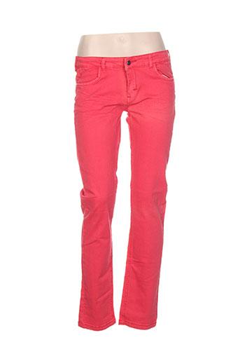 mondaca pantalons fille de couleur rouge