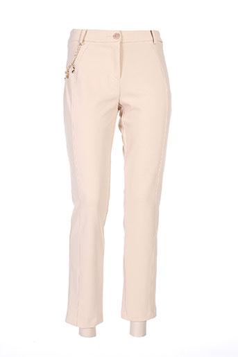 jus d'orange pantalons femme de couleur beige