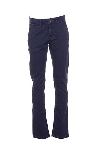 pepe jeans pantalons garçon de couleur bleu