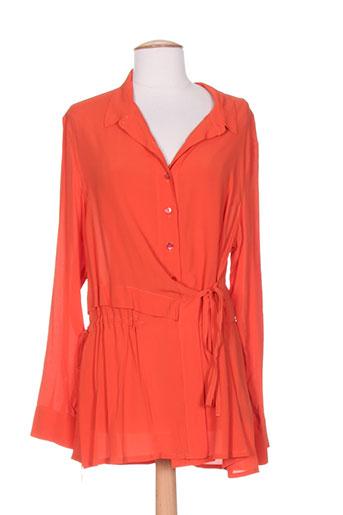 crea concept chemises femme de couleur orange
