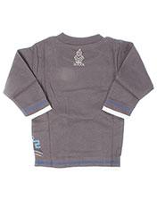 T-shirt manches longues gris LA TRIBBU pour garçon seconde vue