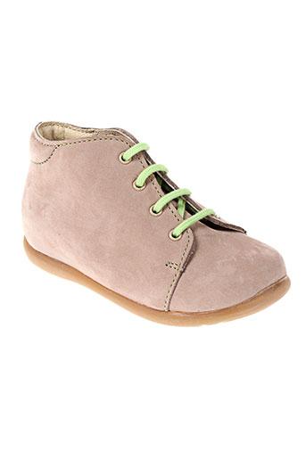 la tribbu chaussures fille de couleur beige