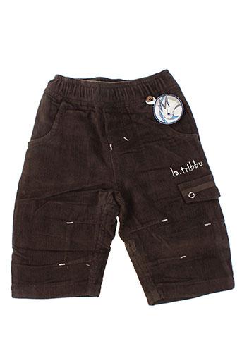 la tribbu pantalons garçon de couleur marron