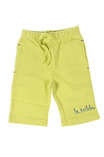 la tribbu pantalons enfant de couleur vert