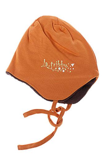 Bonnet orange LA TRIBBU pour garçon